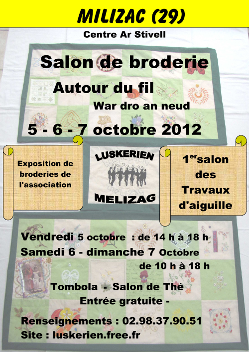 Conf d ration kendalc 39 h accueil for Salon de la broderie
